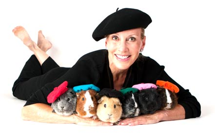 Marcia Messmer & the guinea pigs