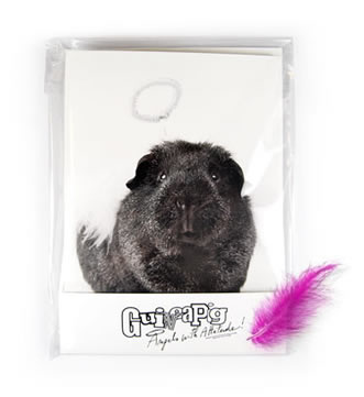 Angels with attitude guinea pig notecards