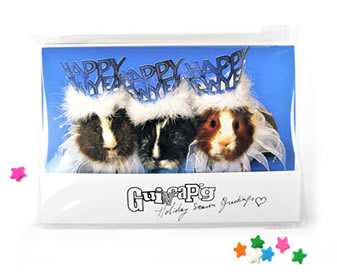 Holiday Season Greatings Guinea Pig notecards